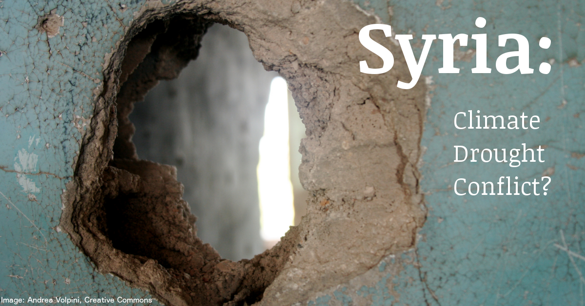 Syria: climate change, drought, migration conflict