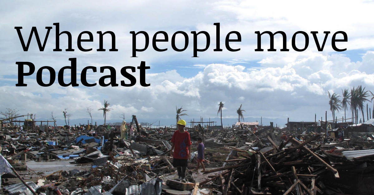 Podcast, audio - climate change and migration