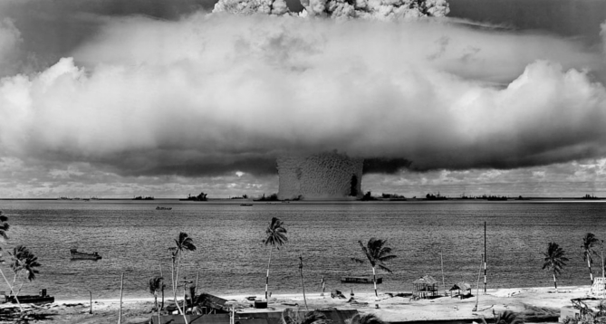 Unclear tests - Pacific islands. Climate change and relocation